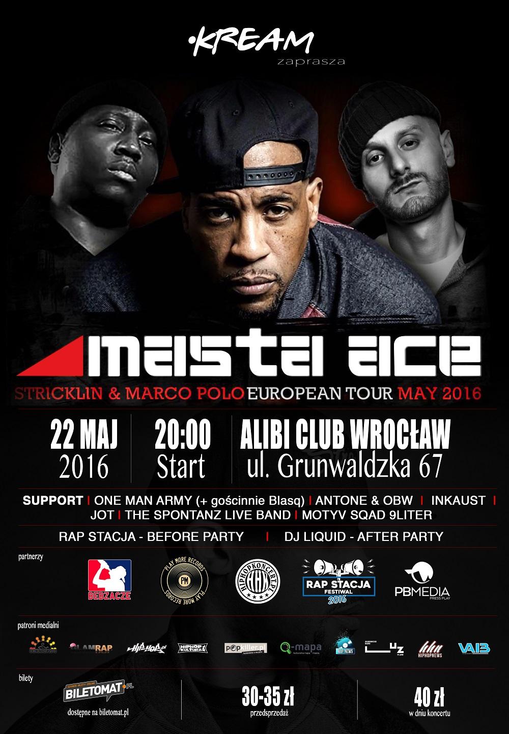 Masta Ace 22 maja we Wroclawiu - plakat